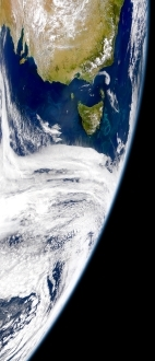 Tasmania in the Southern Ocean (credit: NASA)